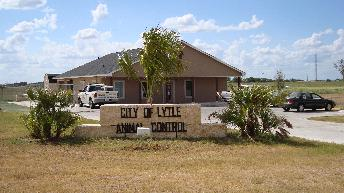 City of Lytle Animal Shelter sign outside of the building